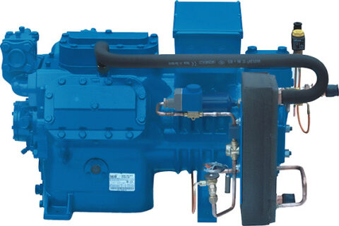 Reciprocating Semi Hermetic Compressors Two Stage Series *Models: 9 Displacement : 25.2 – 123.1 m3/h Motor Power: 5 – 40 HP*